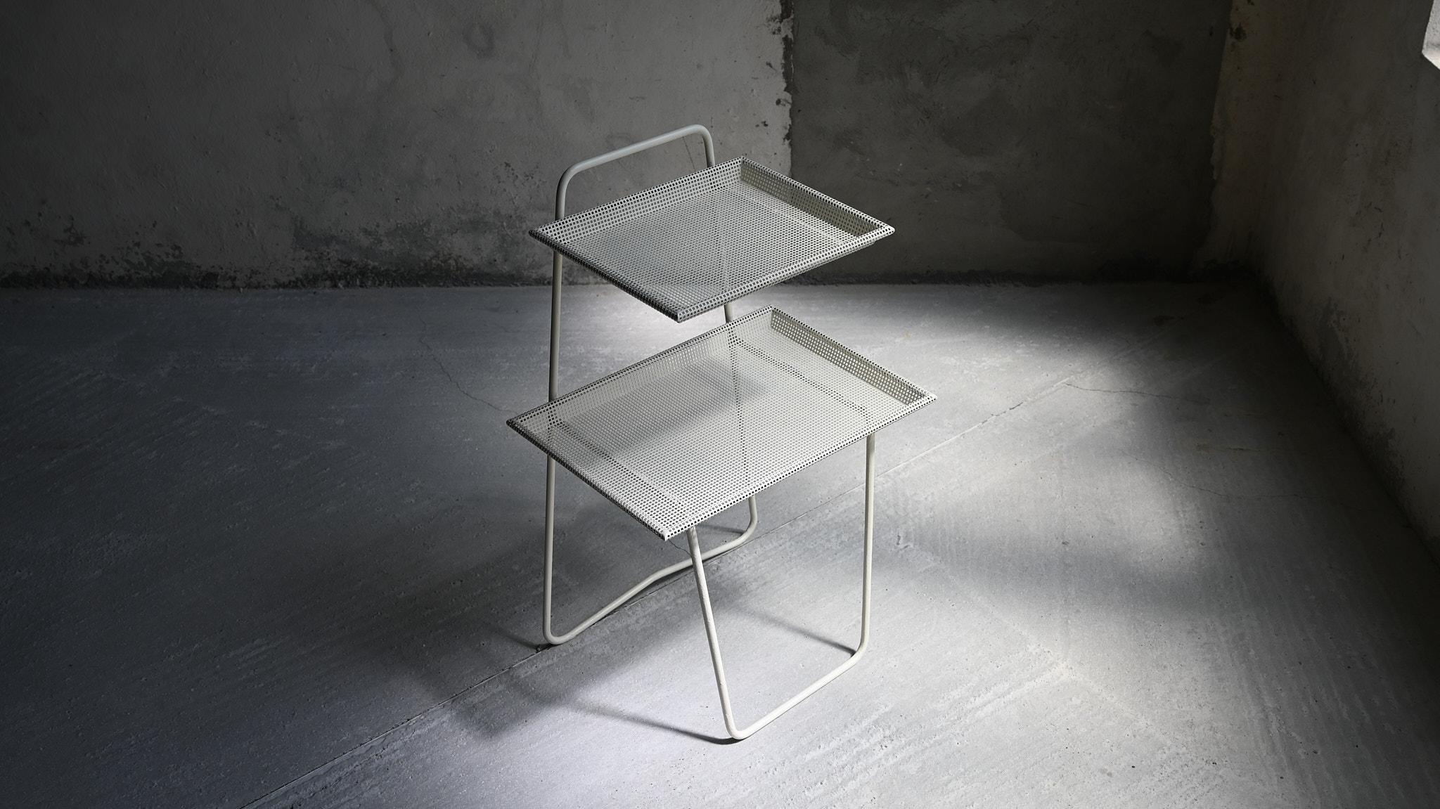 mathieu mategot phone table téléphone atelier mategot perforated metal perfore mid century modern moderniste modernism french design francais
